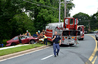 Baltimore County Fire Dept Truck 1 MVA