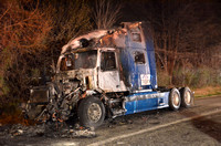 Tractor Trailer Cab Fire In Pikesville
