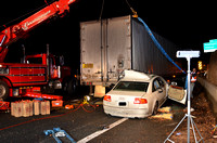 Car vs Tractor Trailer on I-695 - 12/22/13